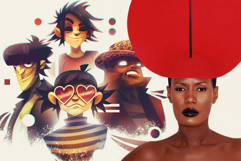 Gorillaz & Grace Jones