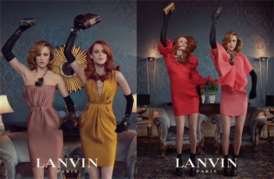 Raquel Zimmermann Karen Elson - LANVIN