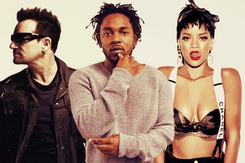 Bono, Kendrick Lamar & Rihanna