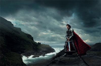 Roger Federer como Rei Arthur