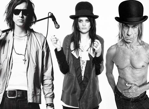 Julian Casablancas, Alison Mosshart & Iggy Pop