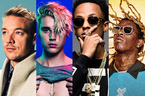 Diplo, Justin Bieber, Rich the Kid e Young Thug