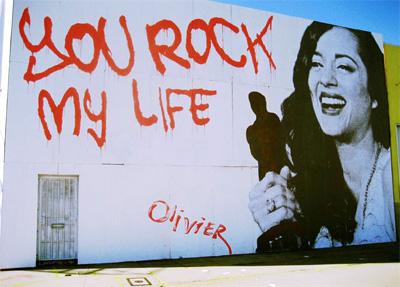 A ganhadora do Oscar Marion Cotillard vira arte em parede