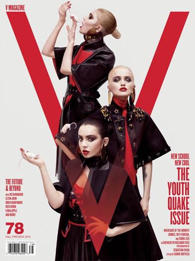Grimes, Sky Ferreira e Charli XCX - V Magazine